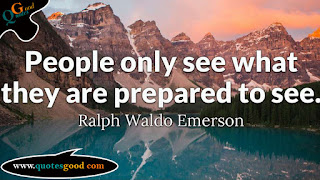 Quote of the day - People Only See What They are Prepared to see