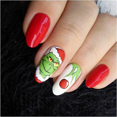 paznokcie Grinch Świąt Nie Będzie