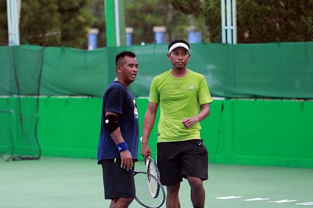 Kejuaraan Tenis KONI Kukar Open 2020: Hasil Sementara Nomor Beregu Putra