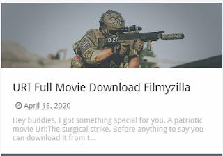 URI Full Movie Download Filmyzilla