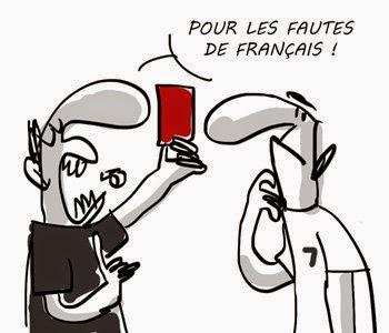 carton rouge pour les fautes de Français