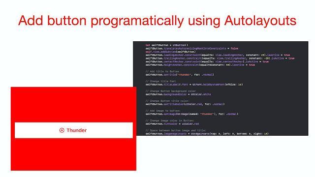 Add button programatically using Autolayouts Swift 5 - iOS