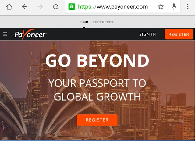 How to create a payoneer account in Cameroon