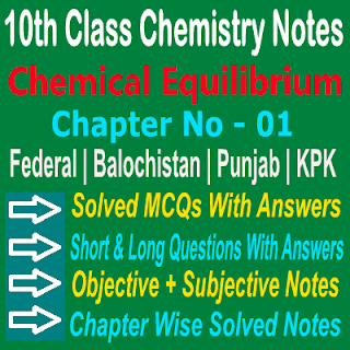 Online Chemical Equilibrium Notes Chemistry