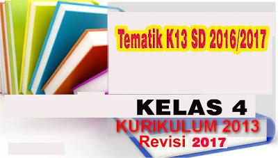 Buku tematik K13 SD kelas 4 Revisi 2016/2017