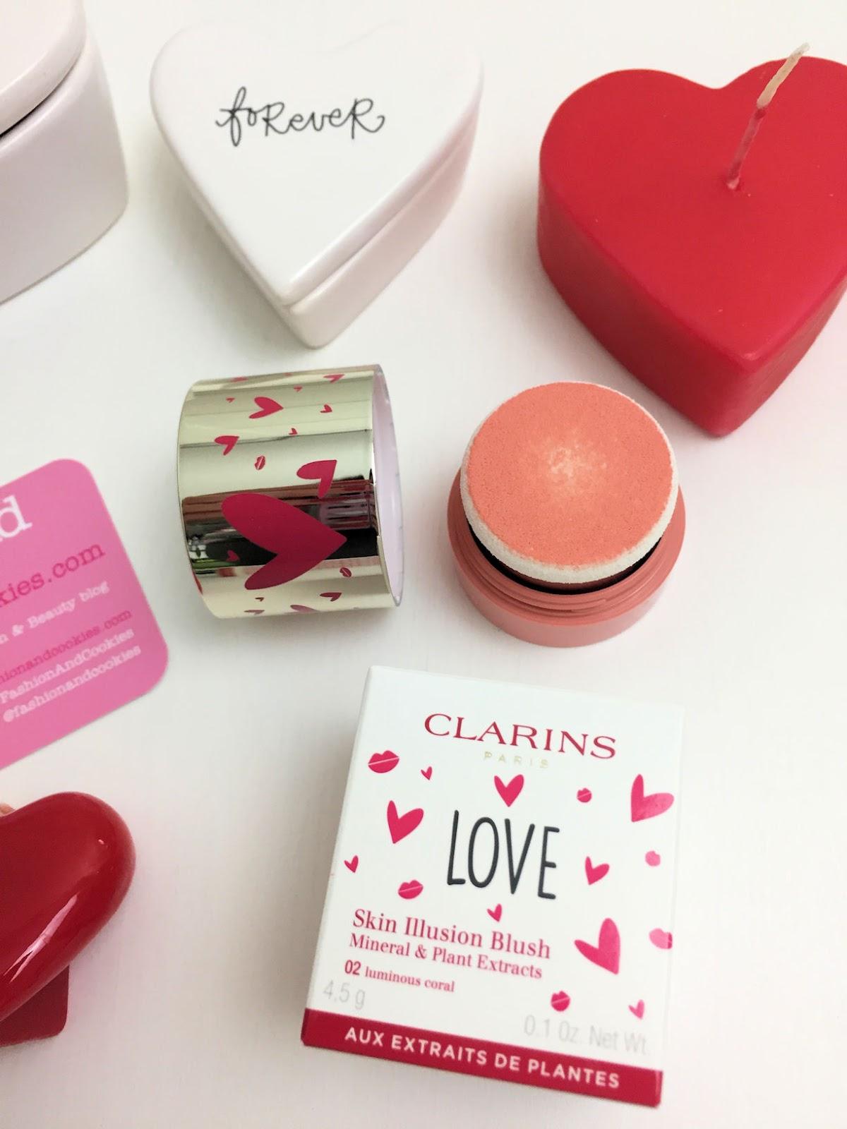 makeup di San Valentino con la capsule collection Clarins: Skin Illusion Blush e Joli Baume su Fashion and Cookies beauty blog, beauty blogger