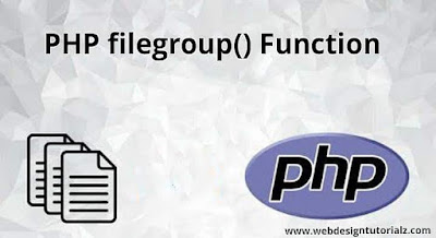 PHP filegroup() Function