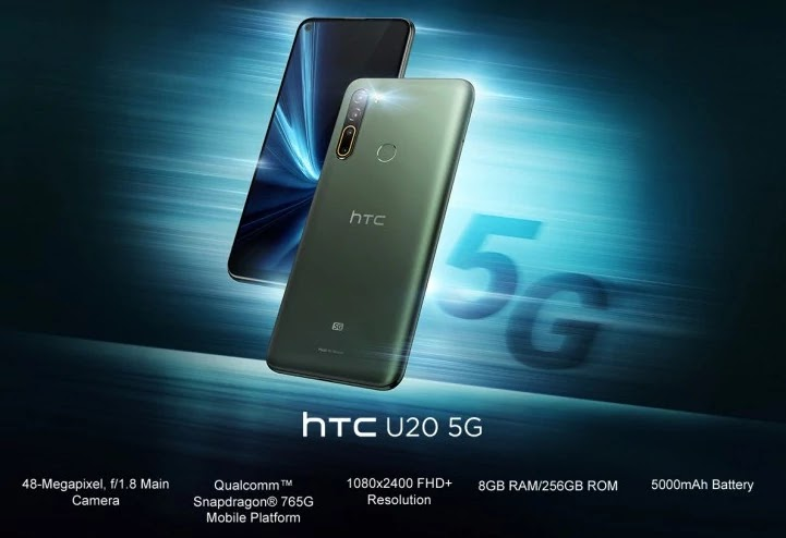 HTC U20 5G is Official, it's the organization's first 5G telephone 2020