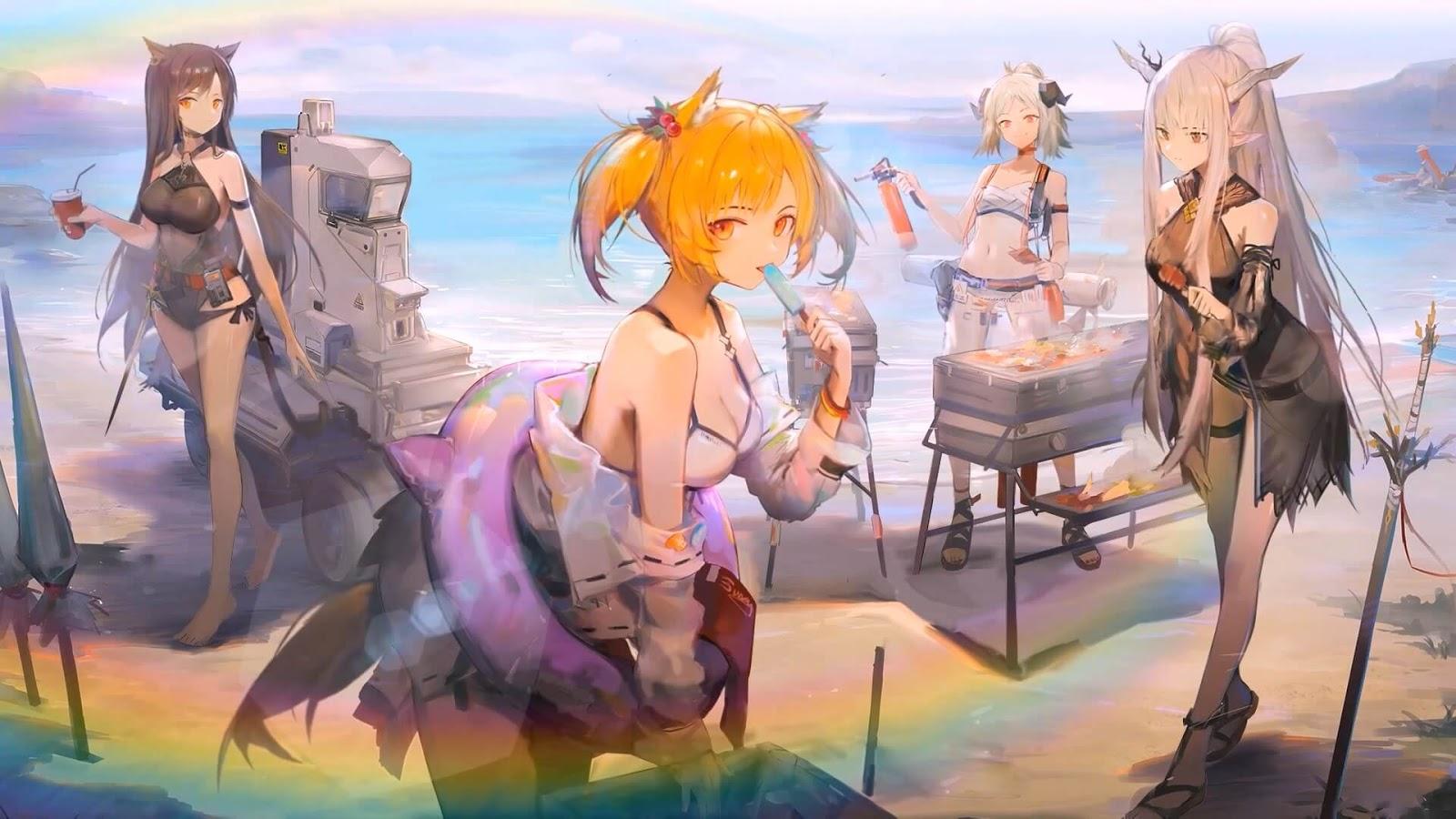 Tomorrow's Ark -Arknights- Coral Coast [Wallpaper Engine Anime]