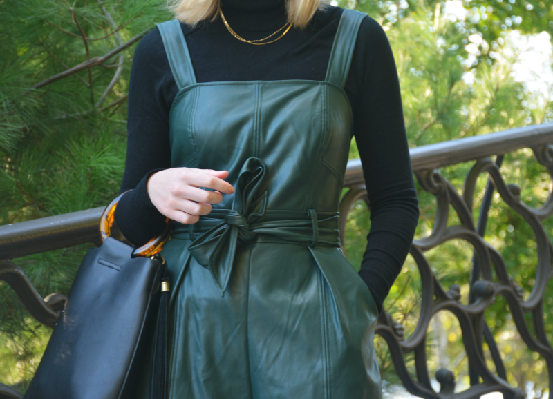 Styling a Leather Jumpsuit for Work to Happy Hour | Organized Mess