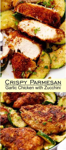 Crispy Parmesan Garlic Chicken with Zucchini  #Easy #simplirecipe #Instantpot #Bangbang #Shrimp #Pasta #vegan #Vegetables #Vegetablessoup #Easydinner #Healthydinner #Dessert #Choco #Keto