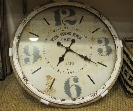 Reloj vintage The new era Paris - 64 cm en bco y marrón