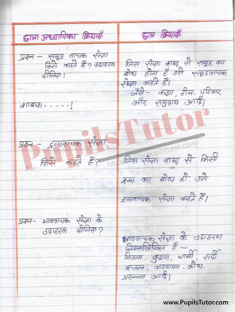 बीएड ,डी एल एड 1st year 2nd year / Semester के विद्यार्थियों के लिए हिंदी की सूक्षम पाठ योजना कक्षा 4,5, 6 , 7 , 8 , 9 ,10,11  के लिए संज्ञा टॉपिक पर