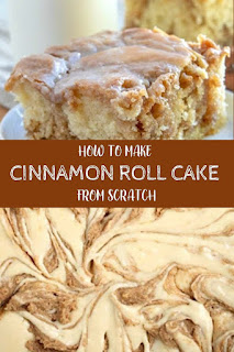 HOW TO MAKE CINNAMON ROLL CAKE FROM SCRATCH