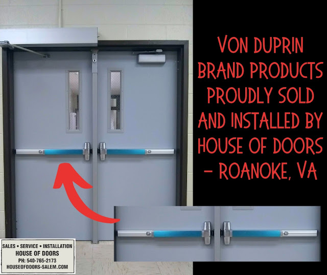 Von Duprin brand products sold and installed by House of Doors - Roanoke, VA