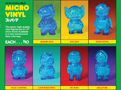 Super7's New York Comic Con 2019 Exclusive Translucent Blue Micro Vinyl Figures