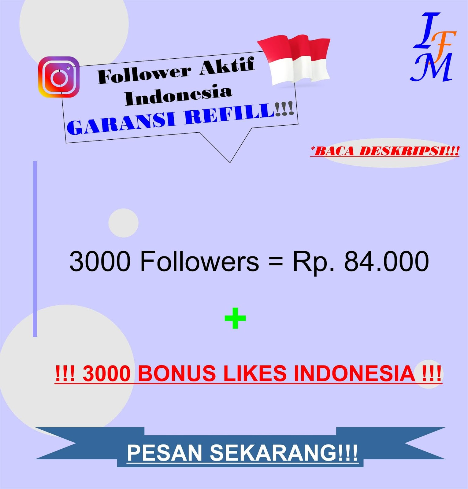 Jasa Tambah 3000 Follower Akun Instagram Aktif Indonesia Murah Garansi Refill