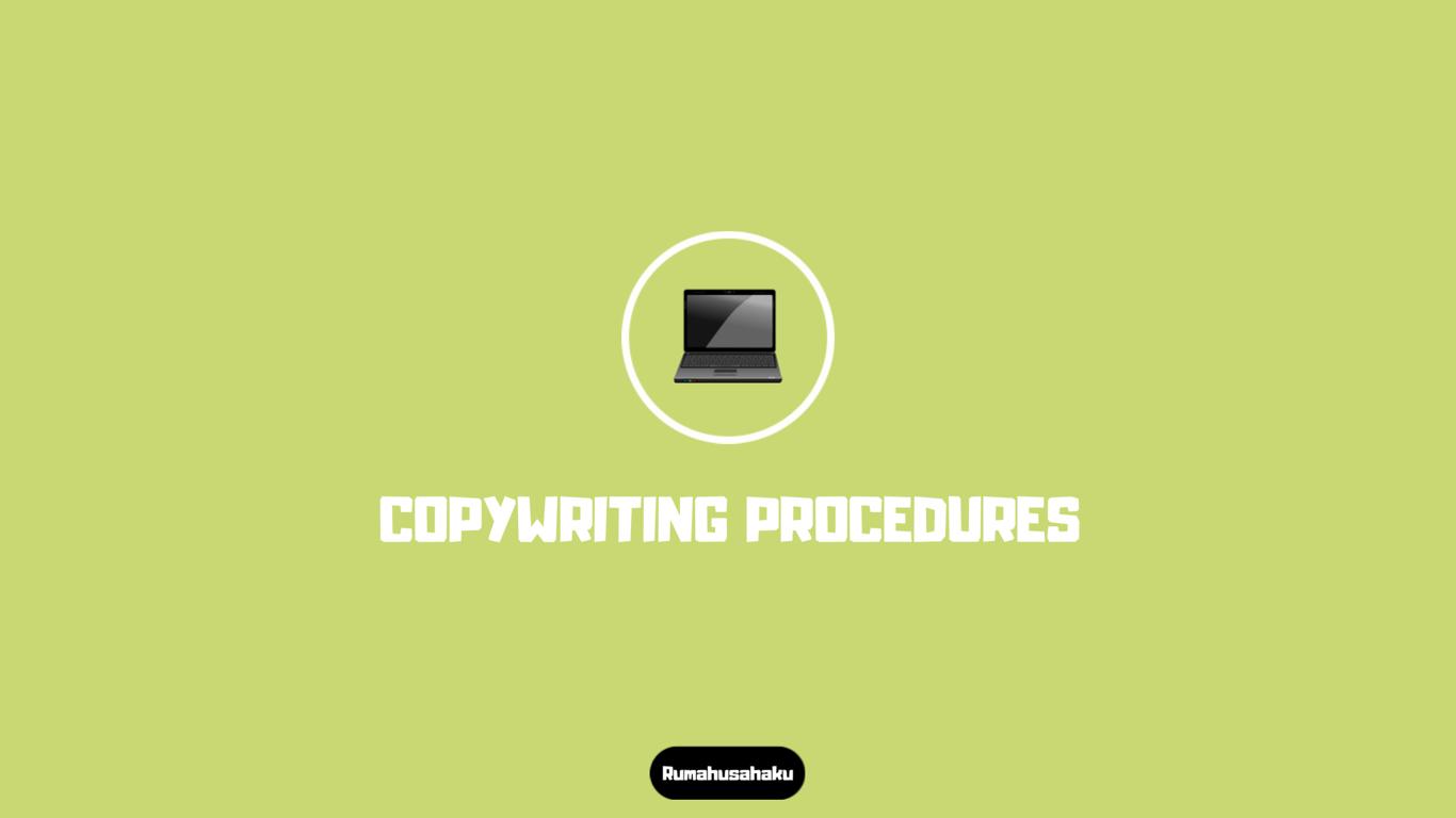 Memahami Prosedur Copywriting