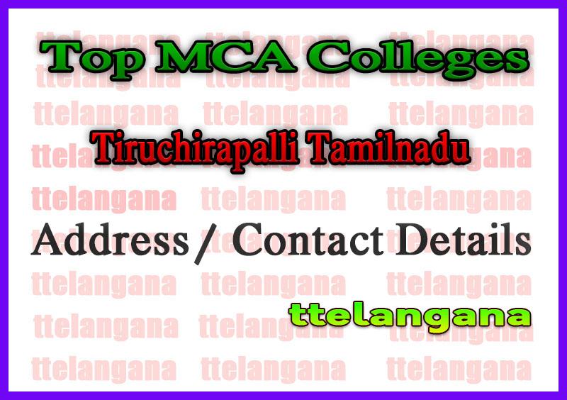 Top MCA olleges in Tiruchirapalli Tamilnadu