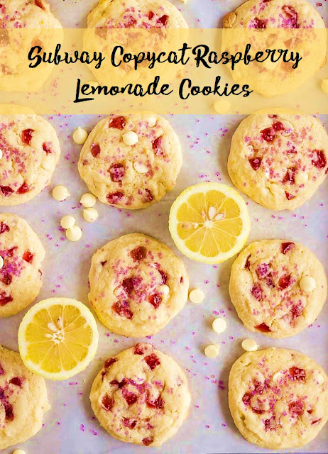 Subway Copycat Raspberry Lemonade Cookies