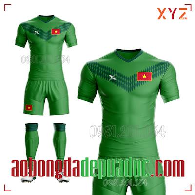 Áo Việt Nam 2020 Training 2 Màu Xanh Lá Đẹp Và Độc
