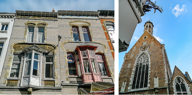 fachadas de Bruxelas: o gótico flamengo e a art nouveau