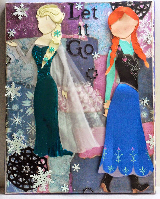 """Frozen"" Paper Doll Canvas Reveal!!"