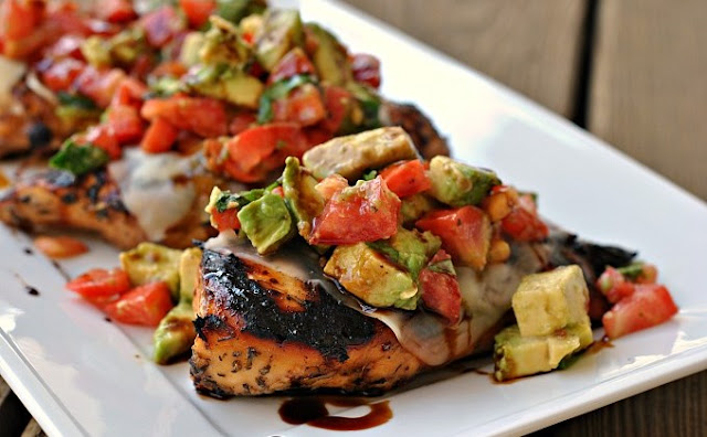 Grilled California Avocado Chicken #dinner #chicken