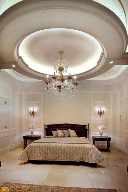 Moderne d cor de chambre a coucher decoration platre plafond - Decor de chambre a coucher ...