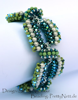 "Beaded bracelet ""Glory Days"" beaded by PrettyNett.de"