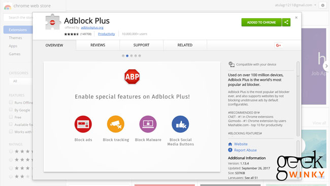 Adblock Plus | Best 10 Google Chrome Extension You Must Have