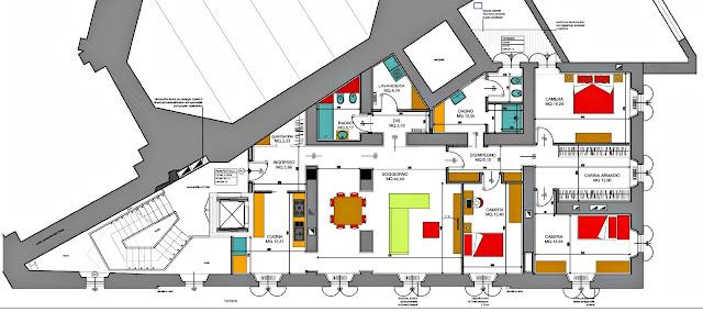 bergamo centro via papa giovanni 5 secondo piano quadrilocale in affitto