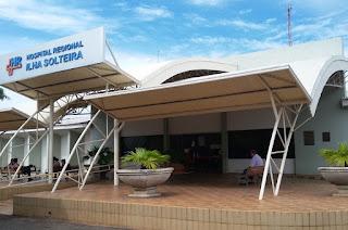Fachada do Hospital Regional de Ilha Solteira
