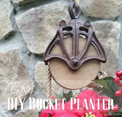 Farmhouse Pulley and Bucket Planter