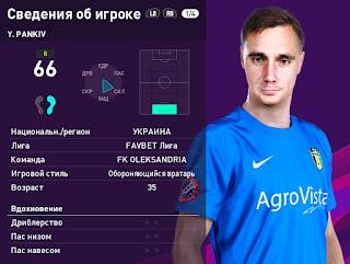 PES 2020 Faces Yuriy Pankiv by Serge