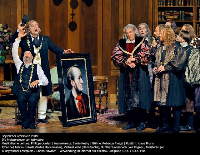 Wagner: Die Meistersinger - Johannes Martin Kränzle, Michale Volle, Günther Groissböck - Bayreuth Festival 2019 (Photo Enrico Nawrath)