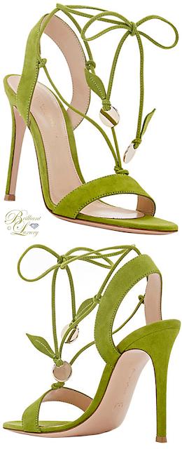 Brilliant Luxury ♦ Gianvito Rossi Cherry Suede Ankle-Tie Sandals