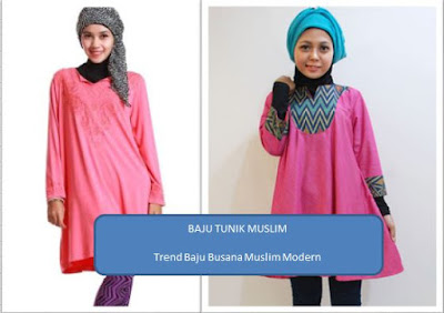 baju tunik muslim wanita