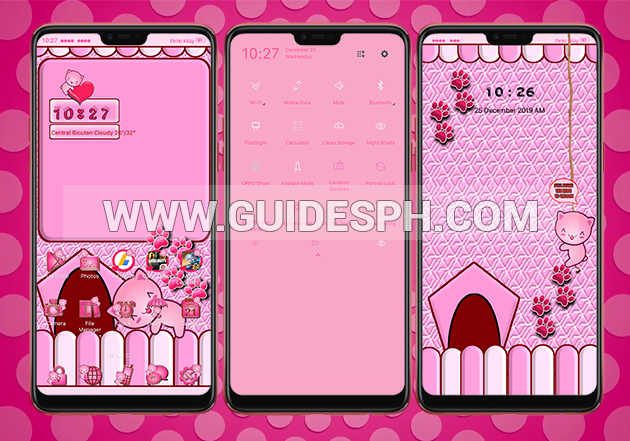 Oppo Theme: Pinky Kitty Mingming Theme