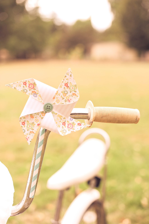 Summer Pastel Party Inspiration from Sweet Lulu - I am obsessed with this paper pinwheel on the bike! it's so sweet!