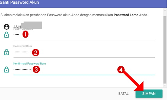 Langkah-langkah mengganti password akun login guru pembelajar