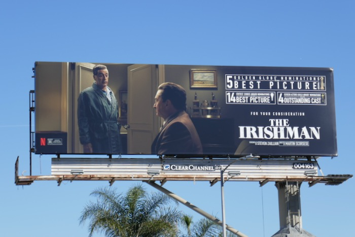 Irishman Golden Globe billboard