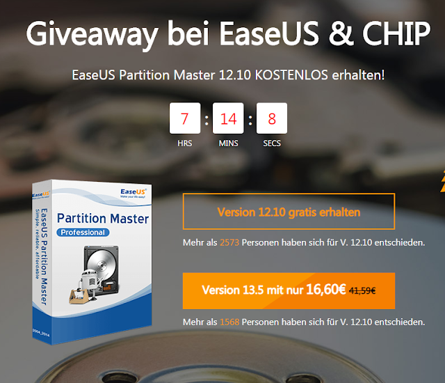 EaseUS Partition Master Professional Free License For a Year