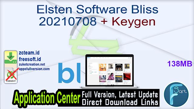 Elsten Software Bliss 20210708 + Keygen_ ZcTeam.id