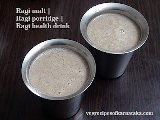 Ragi malt recipe in Kannada