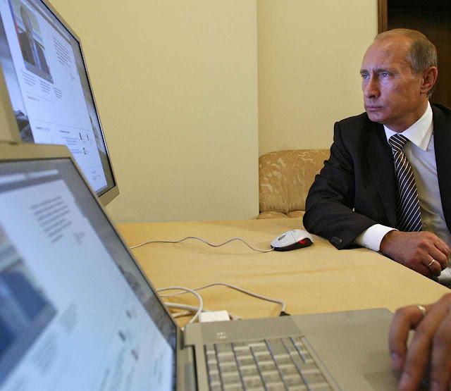 Putin apelou à guerra da desinformação cibernética para desestabilizar os países vítimas