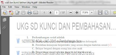 gambar soal ukg TK dan SD pdf