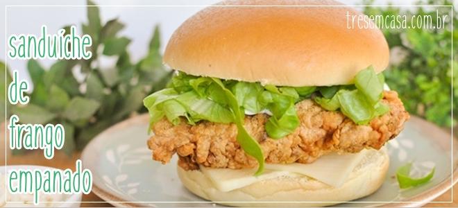sanduíche de frango crocante