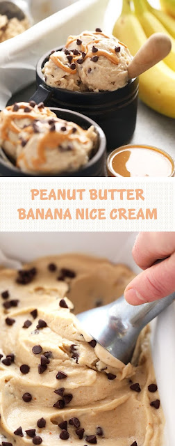 PEANUT BUTTER BANANA NICE CREAM