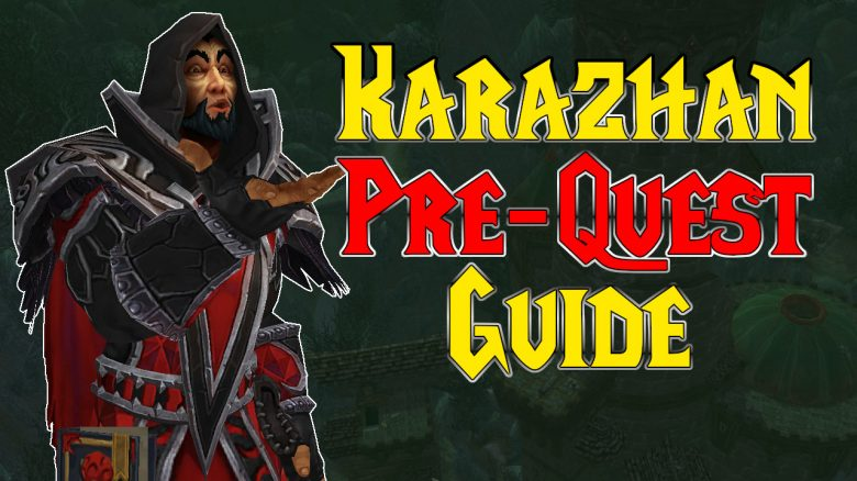 This is how you start and end the Karazhan prequest in WoW Burning Crusade Classic